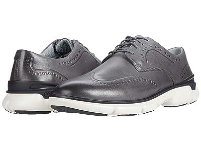 Johnston & Murphy Tanner Wing Tip (Gray Full Grain Waterproof Leather) Men