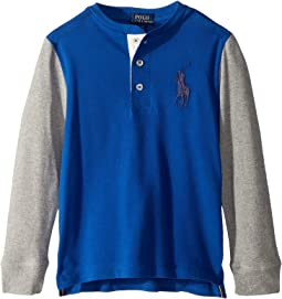 Big Pony Cotton Henley Shirt (Little Kids/Big Kids)
