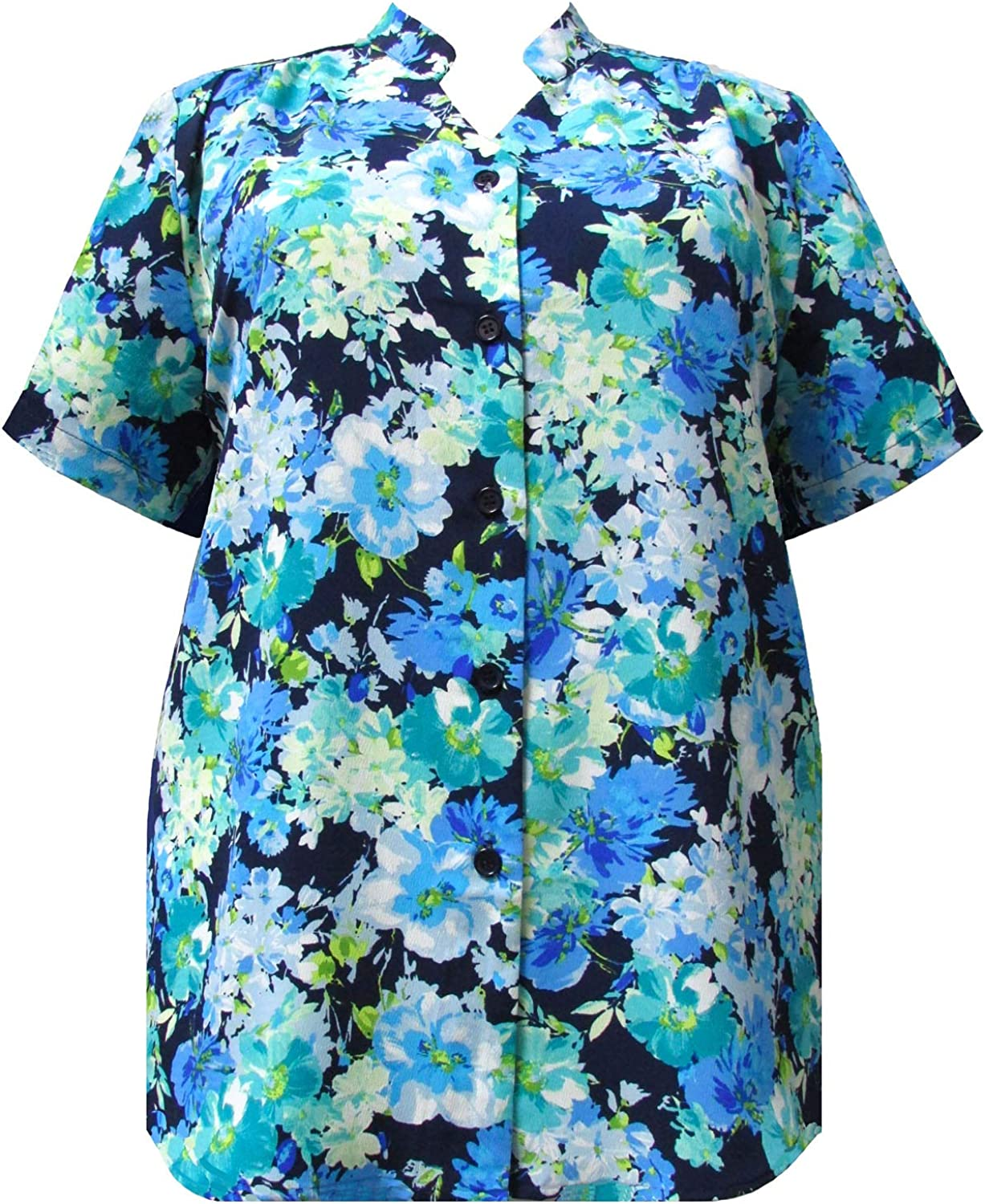 A Personal Touch Women's Plus Collar Sleeve Mandarin Max 86% Ranking TOP7 OFF Short Size