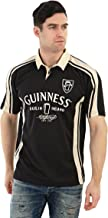 Guinness Arthur Signature Performance Rugby Jersey - Black and Cream Polyester Short Sleeve Polo Shirt