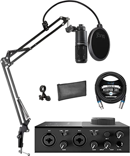 popular Native Instruments KOMPLETE AUDIO 2 USB Audio Interface for outlet sale Windows and Mac Bundle with lowest Audio-Technica AT2020 Condenser Microphone, Blucoil Boom Arm Plus Pop Filter, and 10-FT Balanced XLR Cable outlet sale