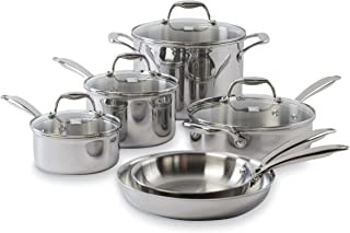 Kenmore 20002 Tri-Ply 10-Pc Stainless Steel Cookware Set