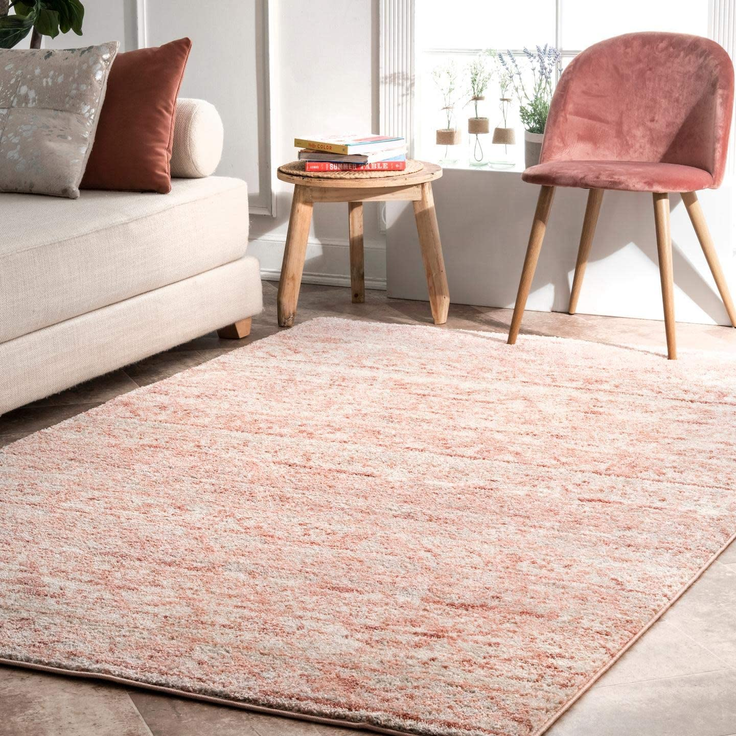 nuLOOM Transitional Moroccan Hattie Super popular specialty Bombing free shipping store Area Rug Square Pink 6'