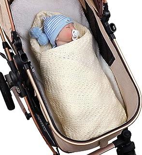 OhhGo Baby Blanket Newborn Toddler Cotton Knit Blanket for Baby Boys Girls 39.4x31.5in