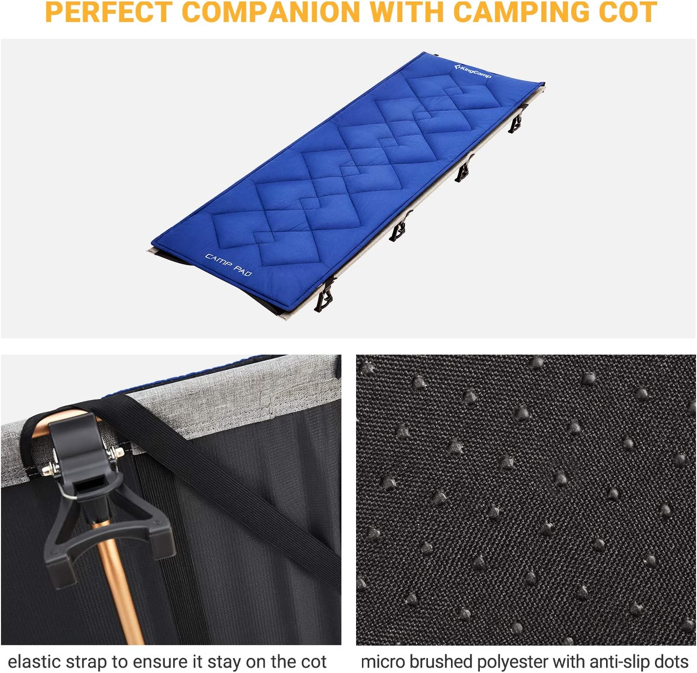 KingCamp Soft Cotton Sports Camping Sleeping Cot Mat Pefect for Camp Cot