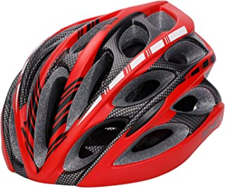 Gonex Bike Helmet, Adult Cycling Road Helmet with Safety Light, 24 Integrated Flow Vents, Adjustable 22.5-24.5 inches