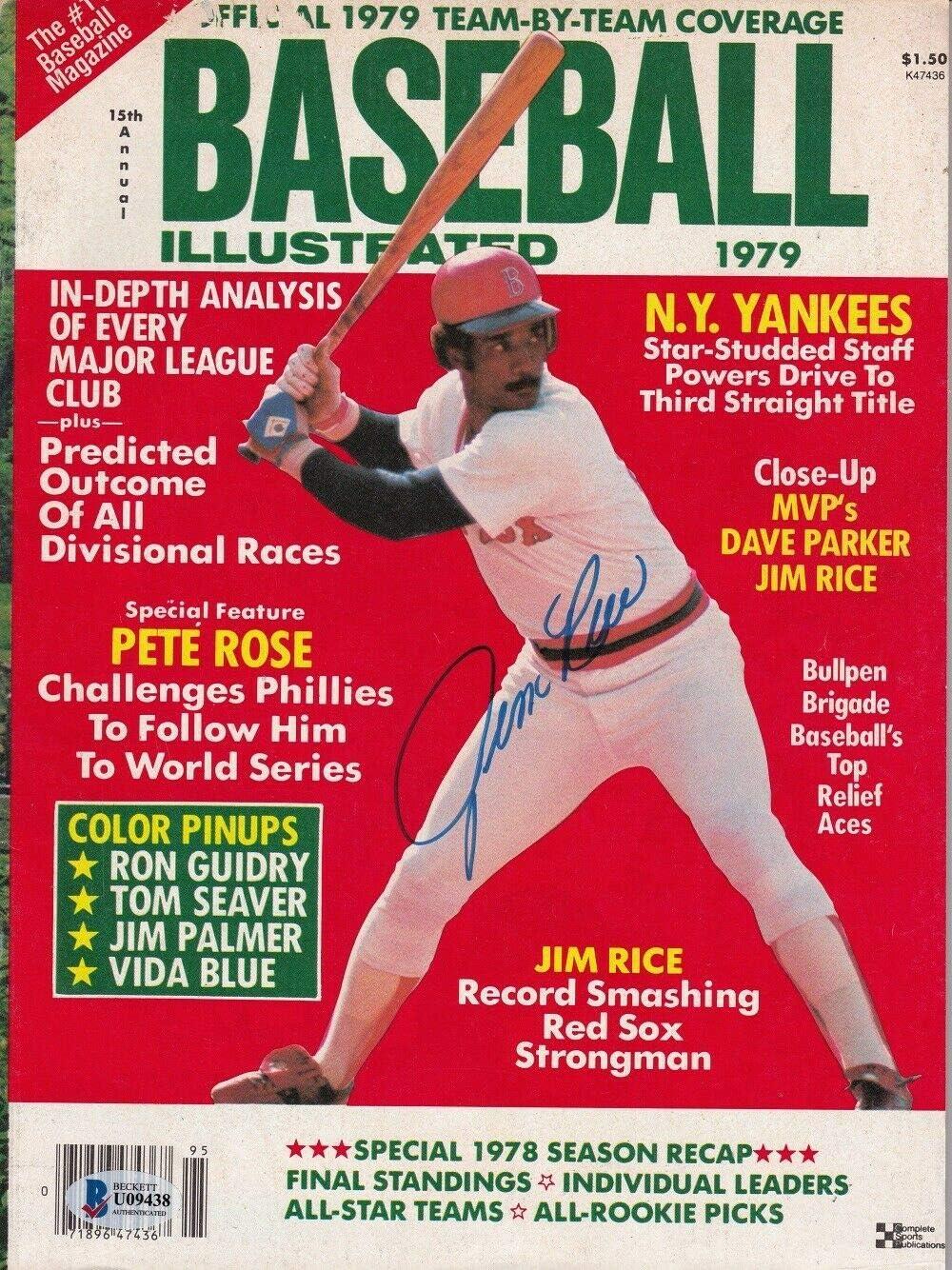Jim Rice Autographed Signed Boston Illustrated 1979 Latest item shop Mag Baseball