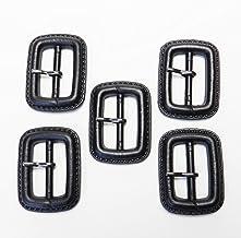 皮革風 黒色系 ピン付バックル 内径25mm 5個入 本体:プラスチック系 ピン:メタル系 トレンチコート スプリングコート コスプレ FLP-200-25-BK-257