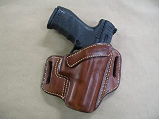 Azula OWB Leather 2 Slot Molded Pancake Belt Holster for Walther PPQ M1, M2 9mm / .40 CCW TAN RH
