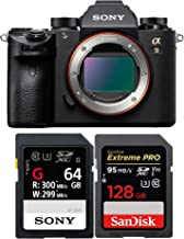 Sony Alpha a9 Mirrorless Digital Camera ILCE9/B w/Sony 64GB UHS-II SD Card, R300/W299 + 128GB Extreme PR