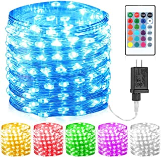 GDEALER 100 Led 16 Colors String Lights Multi Color Change String Lights Christmas Lights Remote Fairy Lights 33ft Firefly Twinkle Lights for Thanksgiving Christmas Decorations Bedroom Wedding