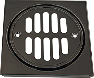 Westbrass R313-62 Shower Strainer Set Grill with Tile Square, Matte Black