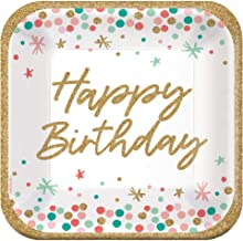 Amscan 752747 Big Wish Birthday Plates, 9-inch Square