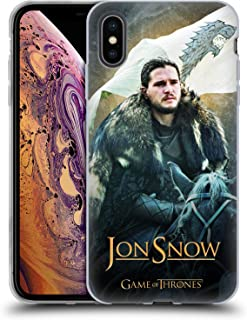 Official HBO Game of Thrones Jon Snow Horse Battle of The Bastards Soft Gel Case Compatible for iPhone Xs Max