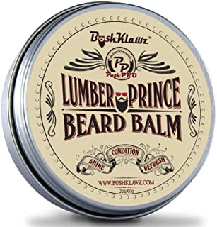 Lumber Prince Beard Balm Leave in Conditioner Beard Butter Premium Refreshing Manly Woodsy Musk Scent 2 oz Best Gift for Fathers