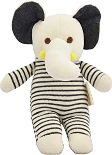 Dordor & Gorgor Organic Plush Toy, Dye Free Natural Hue, Elephant, Bunny Doll (Elephant)