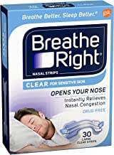 Breathe Right Nasal Strips Clear Large 30 count