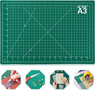 "Self Healing Sewing Mat, Anezus 12"" x 18"" Rotary Cutting Mat Double Sided 5-Ply Craft Cutting Board for Sewing Crafts Hobb..."