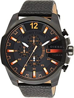 Diesel Dz4291'S Watch Quartz Chronograph Stopwatch-Black Leather Strap