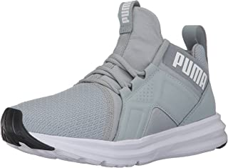 PUMA Unisex-Kids Enzo Sneaker, Quarry-Puma White, 6.5 M US Big Kid
