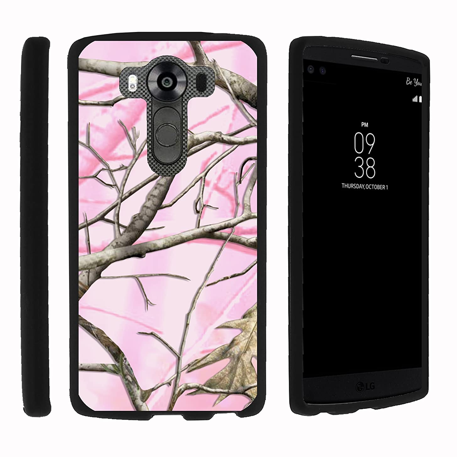 MINITURTLE Case Compatible w/ LG V10 Phone Case, Stylish Personalized Protective Snap On Hard Case Phone Protector for V10 Pink Hunter Camouflage