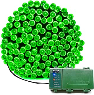 KOMOON Battery Operated String Lights 72 Ft 200 LED Christmas Decorative Fairy Lights for Garden Patio Lawn Curtain Xmas Tree Party Holiday Wedding (Green)
