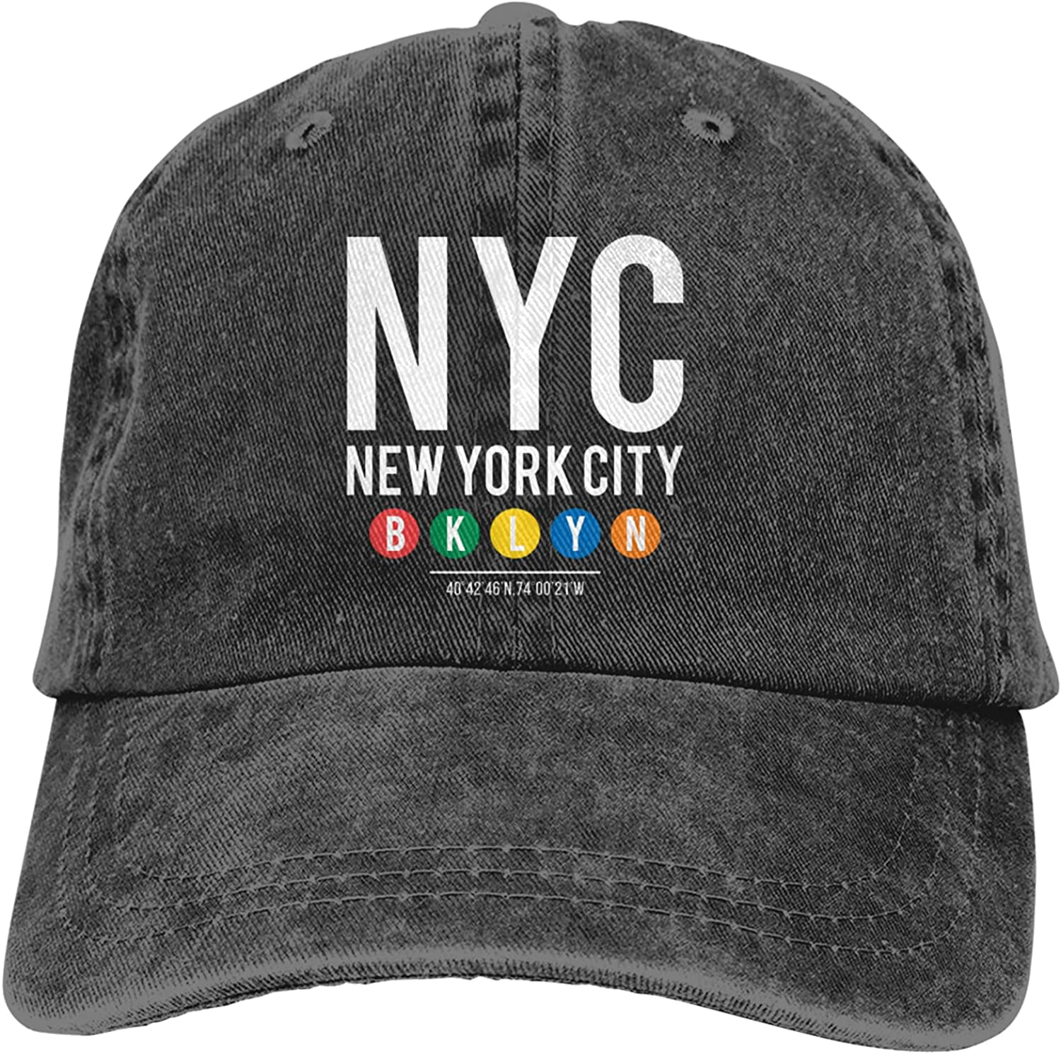 100% quality warranty! NYC New York City BKLYN Basebal Excellence Washed Vintage Adjustable Cotton