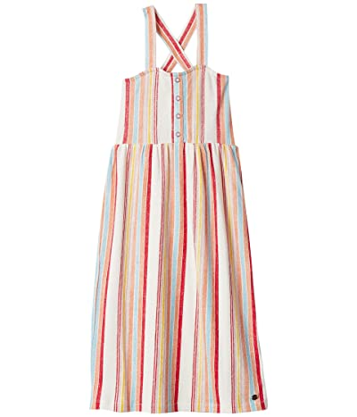 Roxy Kids Beautiful Feathers Dress (Little Kids/Big Kids) (Snow White Bruel Stripes Verti) Girl