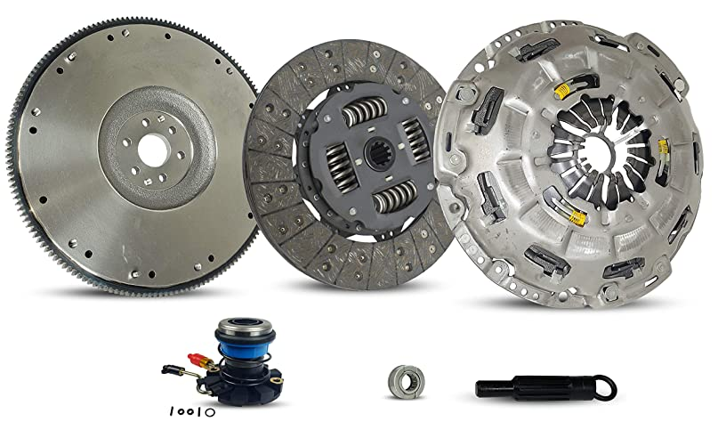 Clutch Self-Adjust With Slave And Flywheel Kit Works With Ford F-150 Heritage F-150 Flotillera Stx Xl Xlt Base Austera 1997-2008 4.2L V6 GAS OHV Naturally Aspirated