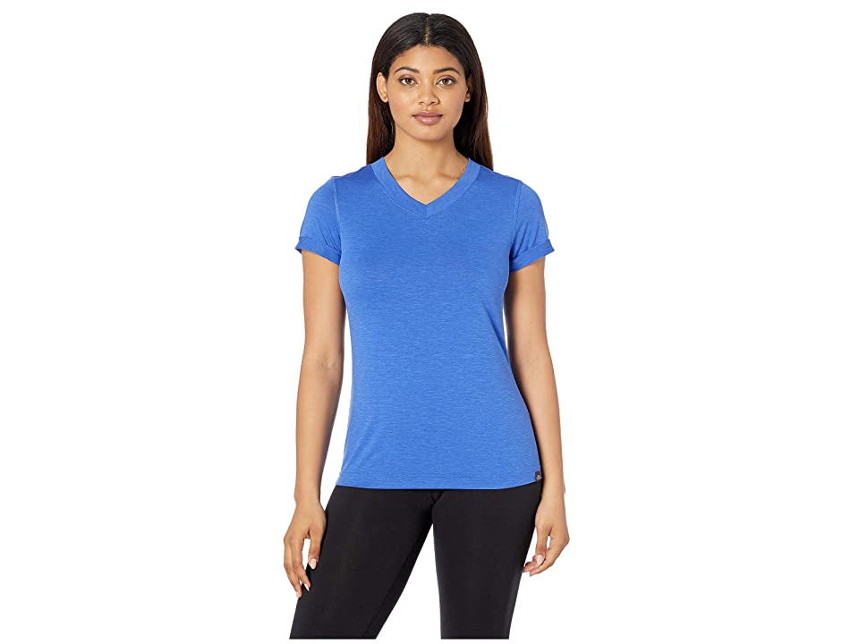 The North Face HyperLayer FD Short Sleeve V-Neck (Dazzling Blue) Women