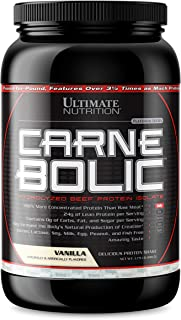 Best Ultimate Nutrition Carnebolic Hydrolyzed Beef Protein Isolate, Vanilla, 1.79 Pound Review
