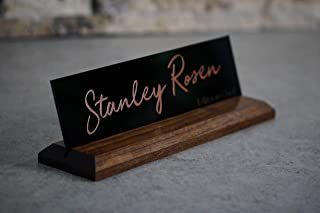 Desk Name Plate for Office - 10 x 2.5 inches