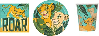 Lion King Party Supply Set for 16- Plates, Napkins & Cups