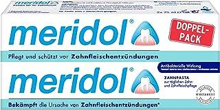 meridol Zahnpasta, Doppelpack (2 x 75 ml) - Zahncreme zur täglichen Zahn- und Zahnfleischpflege, antibakterieller Effekt