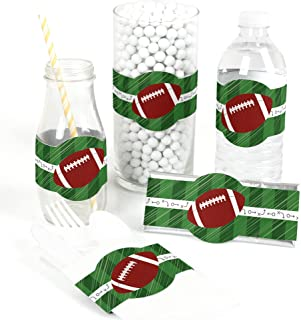 End Zone - Football - DIY Party Supplies - Baby Shower or Birthday Party DIY Wrapper Favors & Decorations - Set of 15