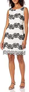 S.L. Fashions Women's Color Block Lace Sheath Dress