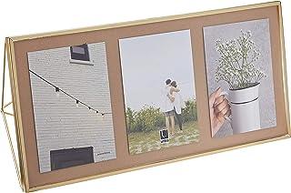 Umbra Prisma Multi Photo Frame in Steel, Matte Gold