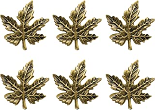 DII CAMZ35749 Thanksgiving Of Fall Napkin Rings For Dinner Parties Weddings Receptions Family Gatherings Or Everyday Use Set Your Table With Style - Set Of 6, Maple Leaf