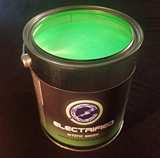 Glow in The Dark Paint - 1 Gallon - Mystic Green - Acrylic Water Based Glow in The Dark Paints for Art, Theater, Safety Exit Signs, Wall Art, Halloween, Professional Grade Quality