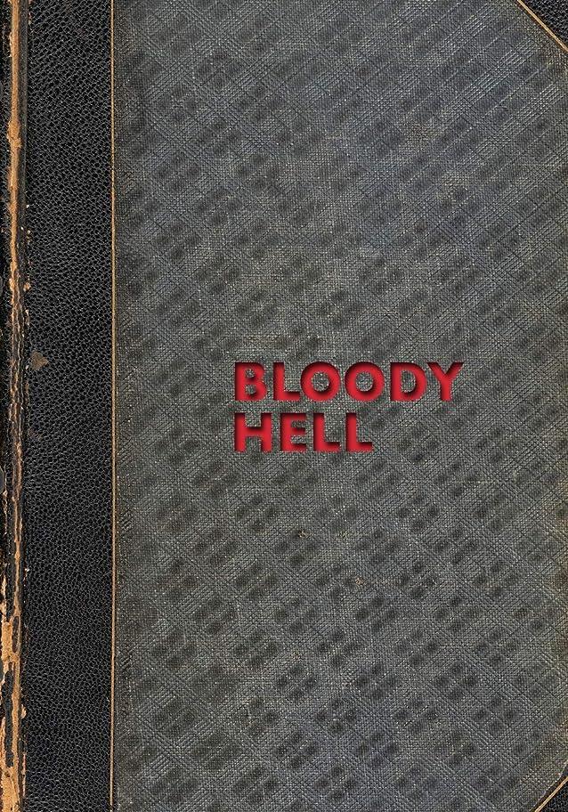 ブラシファン一貫したBLOODY HELL: 7X10 Expressive lined notebook composition book