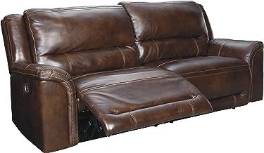 Signature Design by Ashley Catanzaro Power Reclining Sofa, Mahogany