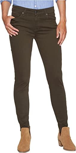 Harlowe Twill Skinny Fit in Forest Night