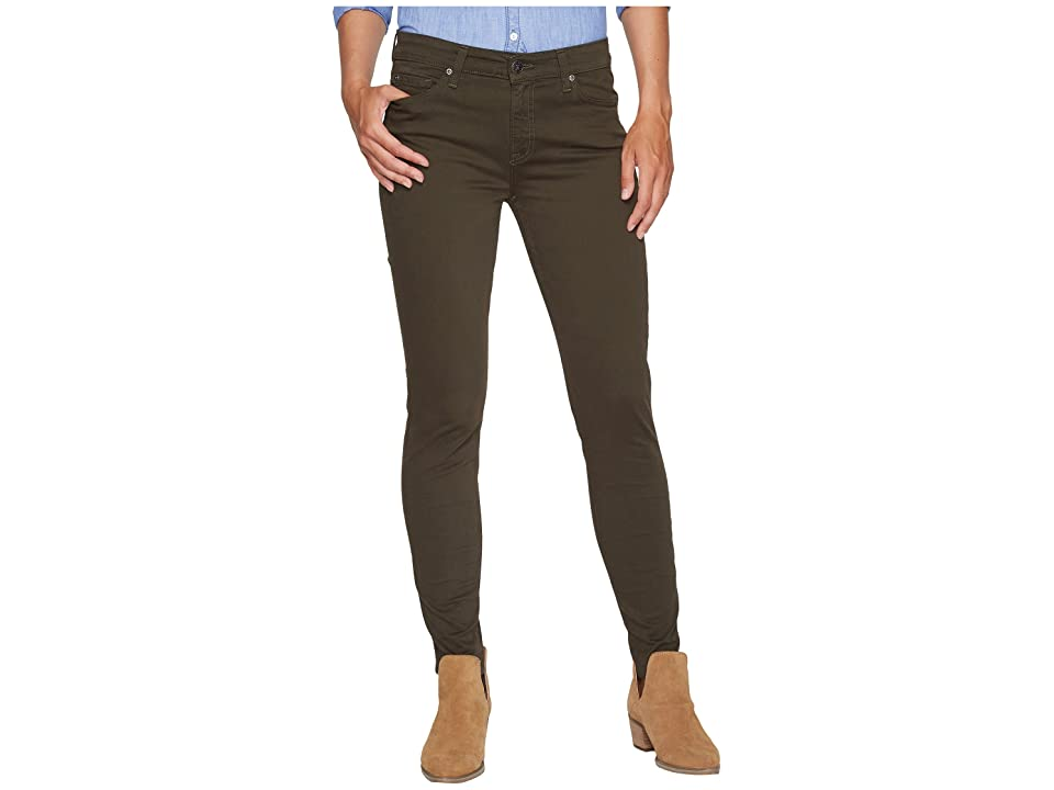 Agave Denim Harlowe Twill Skinny Fit in Forest Night (Forest Night) Women's Jeans