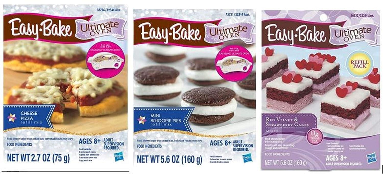 Ultimate Easy Bake Refill Bundle - Mini Whoopie Pie, Cheese Pizza, Red Velvet & Strawberry Cakes