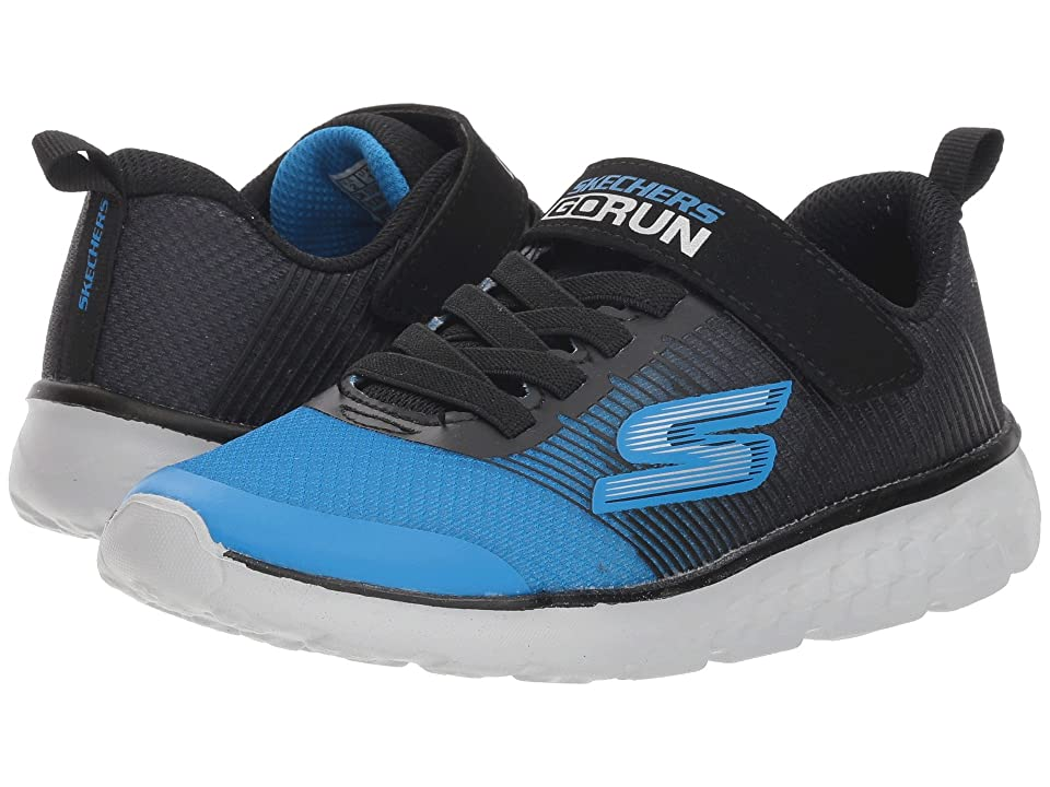 SKECHERS KIDS Go Run 400 (Little Kid/Big Kid) (Black/Royal) Boy