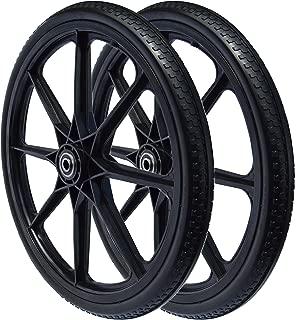 Sherpa 20 x 2.125 Flat Free Wheel for Rubbermaid Cart (2-Pack)