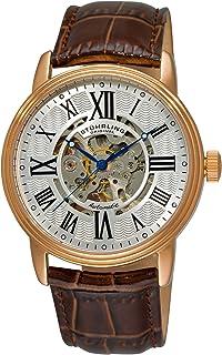 ساعة ديلفي فينيزيا الكلاسيكية بحركة اوتوماتيكية وتصميم هيكل عظمي لون بني للرجال من ستيرلنج اوريجينال - 1077.3345K2