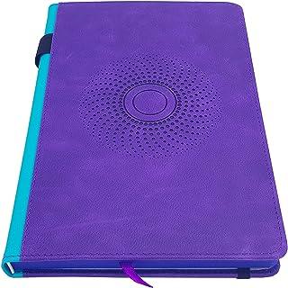 EJRange Libreta de cuero genuino (Cuero PU) - A5 púrpura