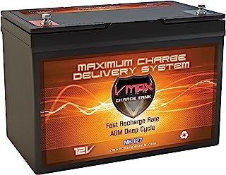 VMAX mr12712ボルト100Ah AGM Deepサイクルメンテナンスフリーバッテリーfor Boats and 40–100lb Minn Kota、Minnkota、コブラ、Sevylor and Other Trollin...