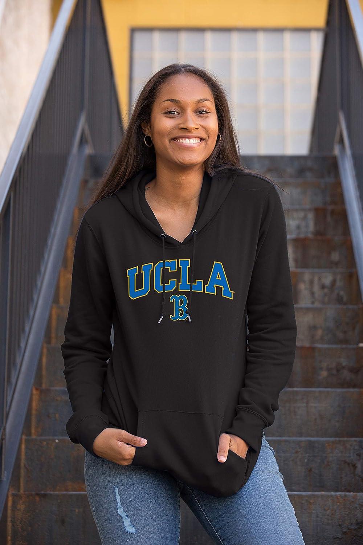 Top of the World Mens Fit Black Team Arch Premium Fabric Hoodie Sweatshirt